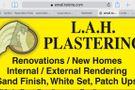 L A H Plastering PTY LTD Logo