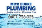 Mick Burke Plumbing Logo