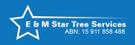 E & M Star Tree Services Logo