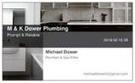 M&K Dower Plumbing Logo