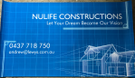 Nulife Constructions Logo