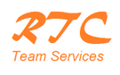 Concreting & Rendering Services  (RTC Team Services) retaining Wall as well Logo