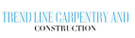 Trend Line Carpentry And Construction Logo