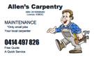 Allen's Carpentry Logo