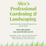 Alex's Professional Gardening and Landscaping Logo