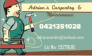 Mike Pohl's Carpentry Service Logo