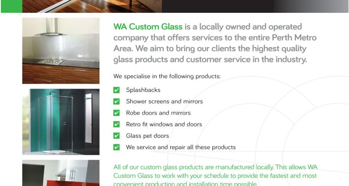 WA Custom Glass Logo
