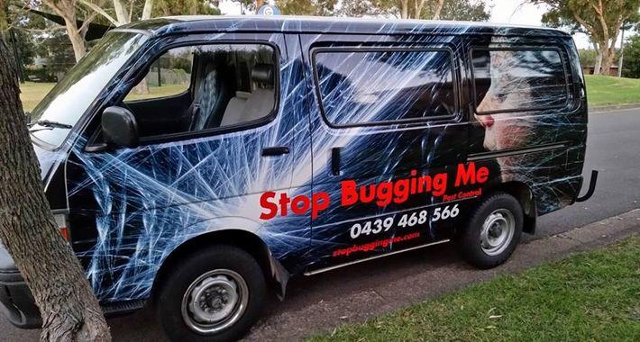 Stop Bugging Me Pest Control Logo