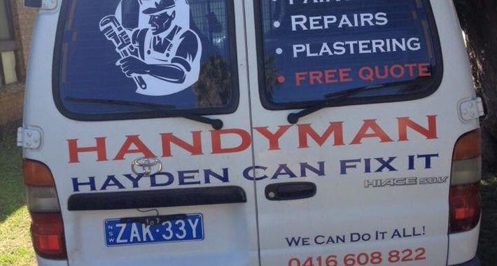 Handyman Hayden Can Fix It Logo