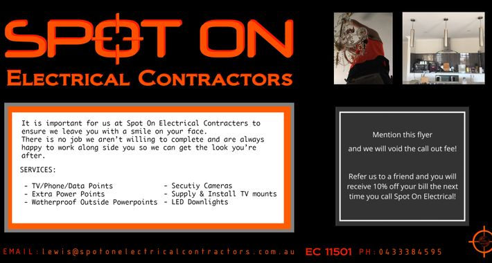 Spot On Electrical Contractors Logo