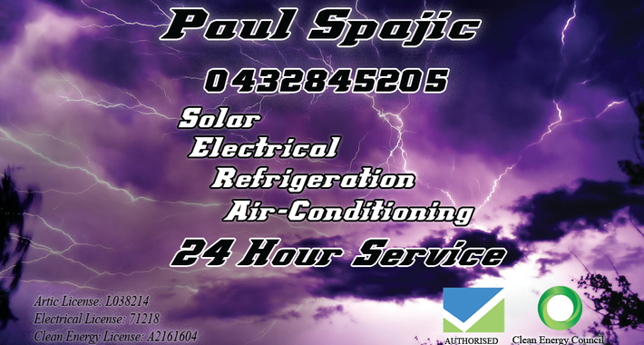 Paul Spajic Electrical Logo