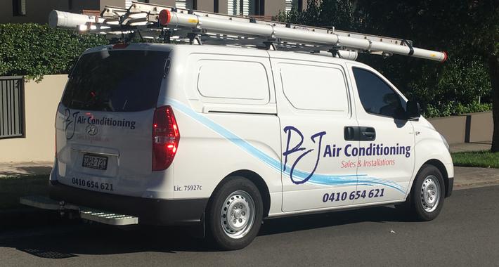 PJ Air Conditioning Logo