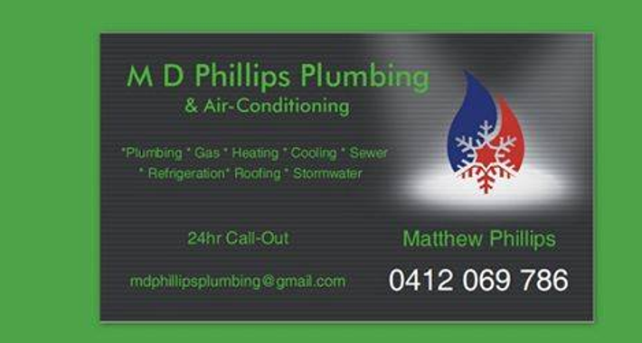 M D Phillips Plumbing and Air Conditioning Logo