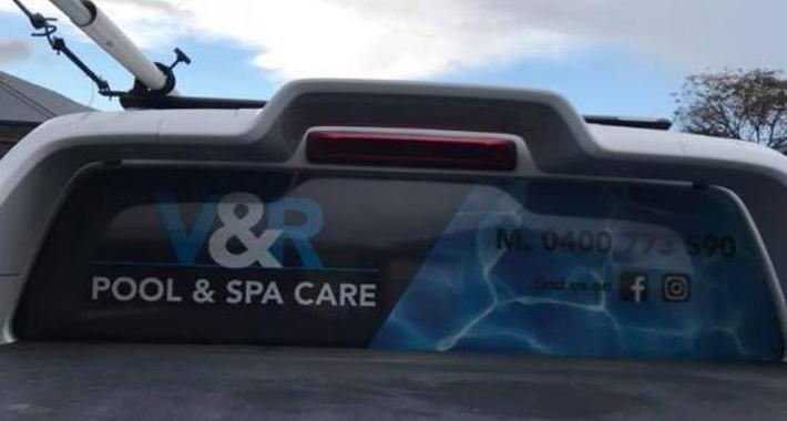 V & R Pool & Spa Care Logo