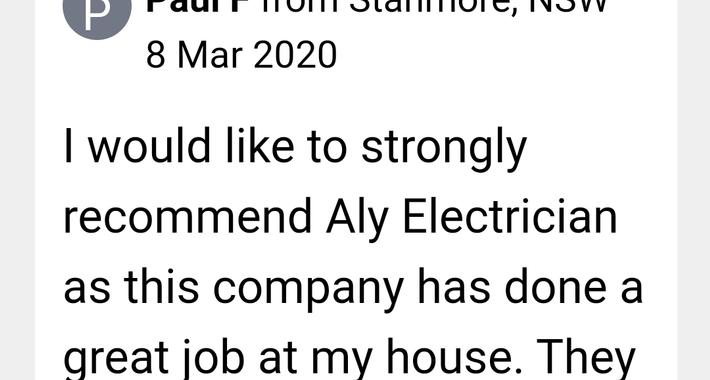 ALY ELECTRICAL PTY LTD Logo