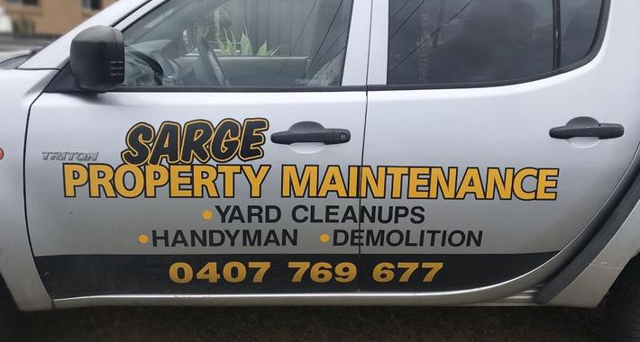 Sarge Handyman & Property Maintenance Logo