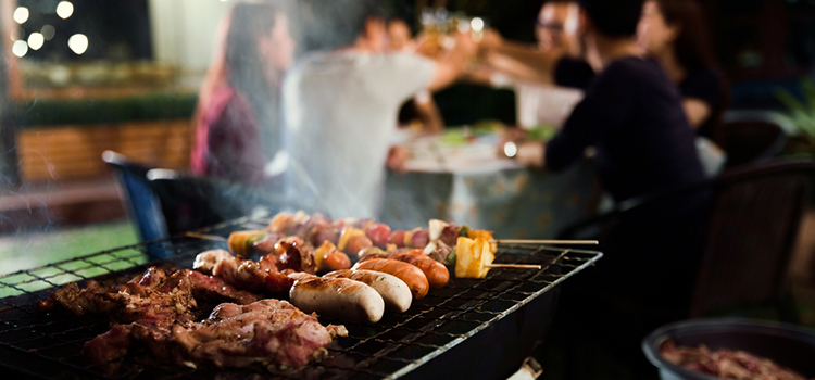 Outdoor BBQ Night Time