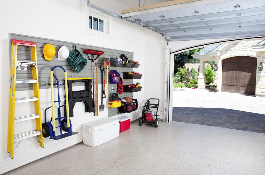 smart garage storage on the walls