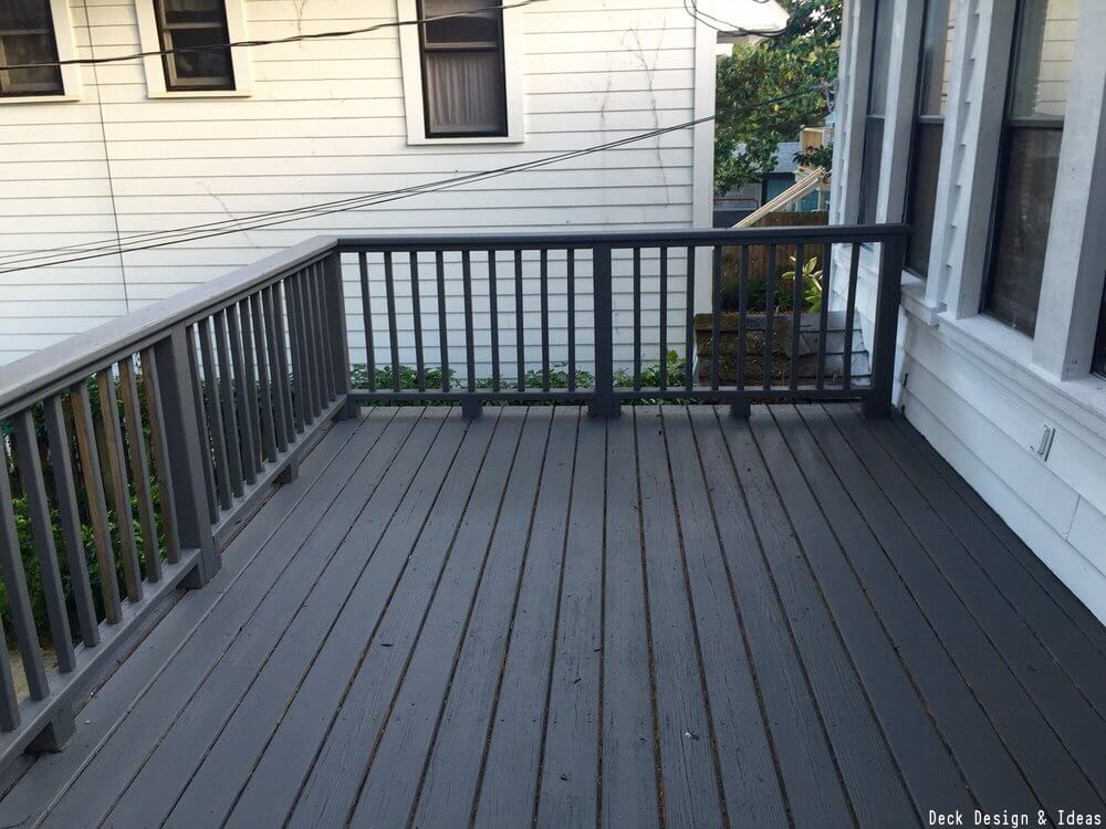 painted black deck