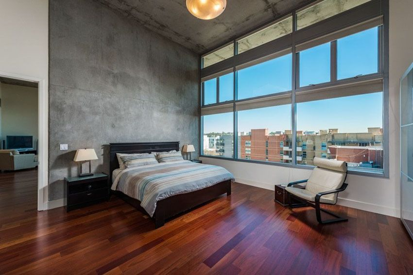 wooden flooring in a luxury bed