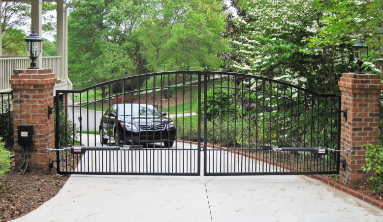 gate driveway with toyota camry