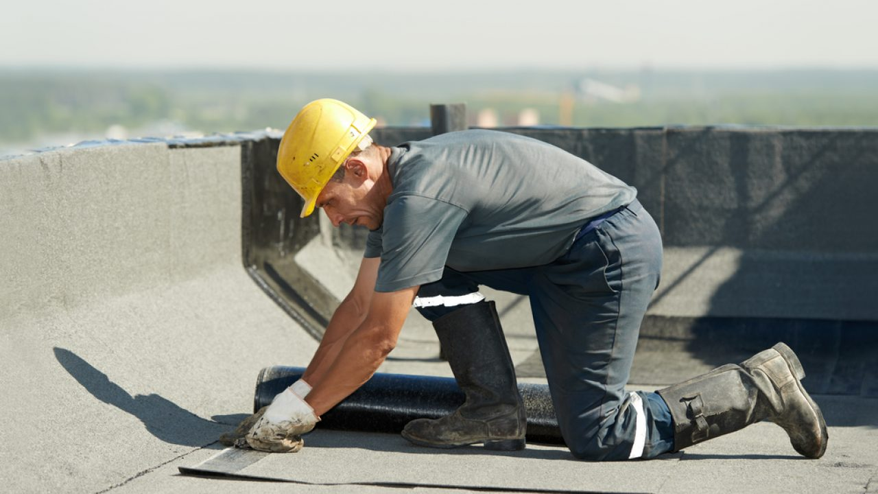 waterproofing contractor on the roof
