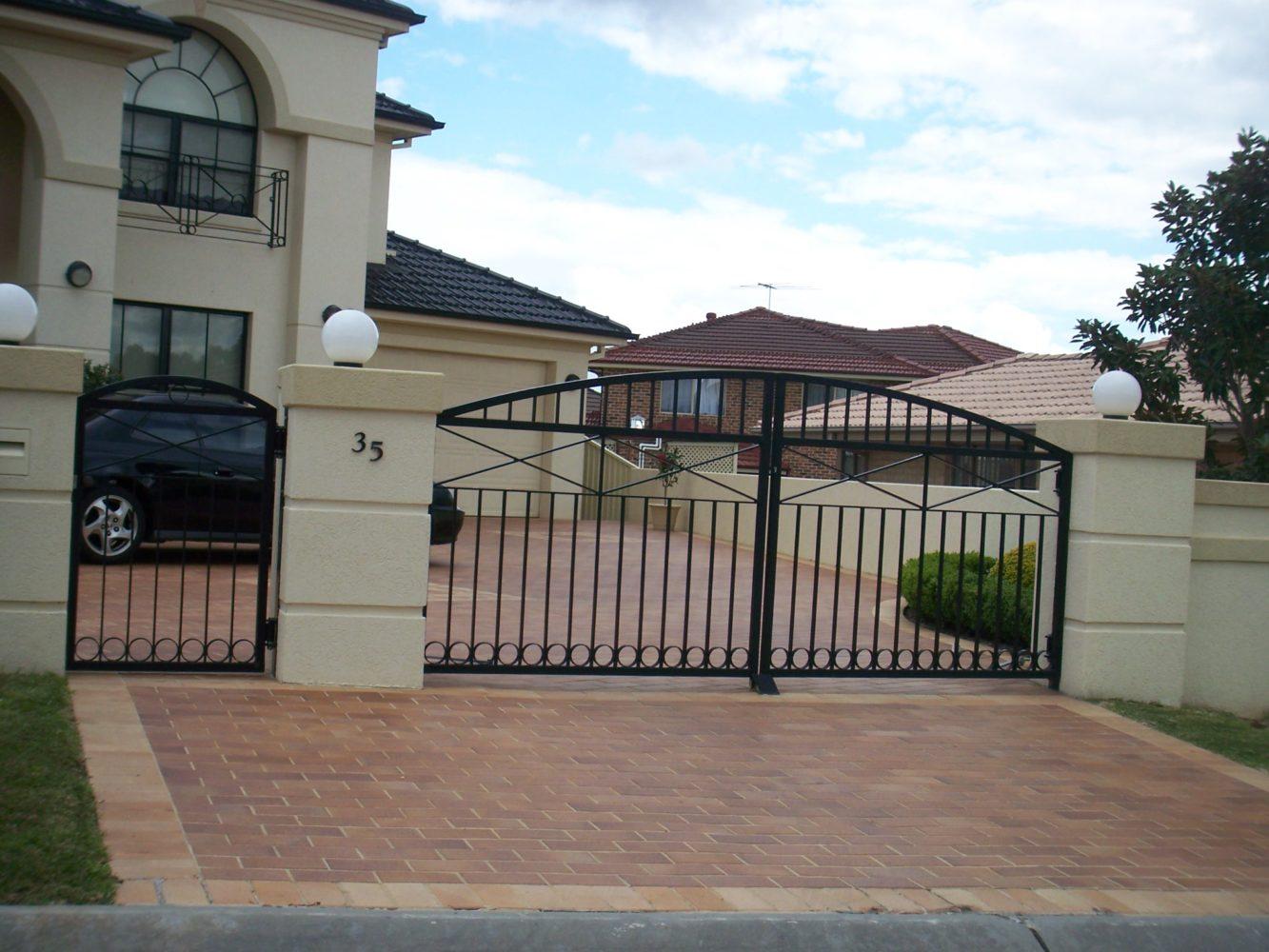 External opening door for house