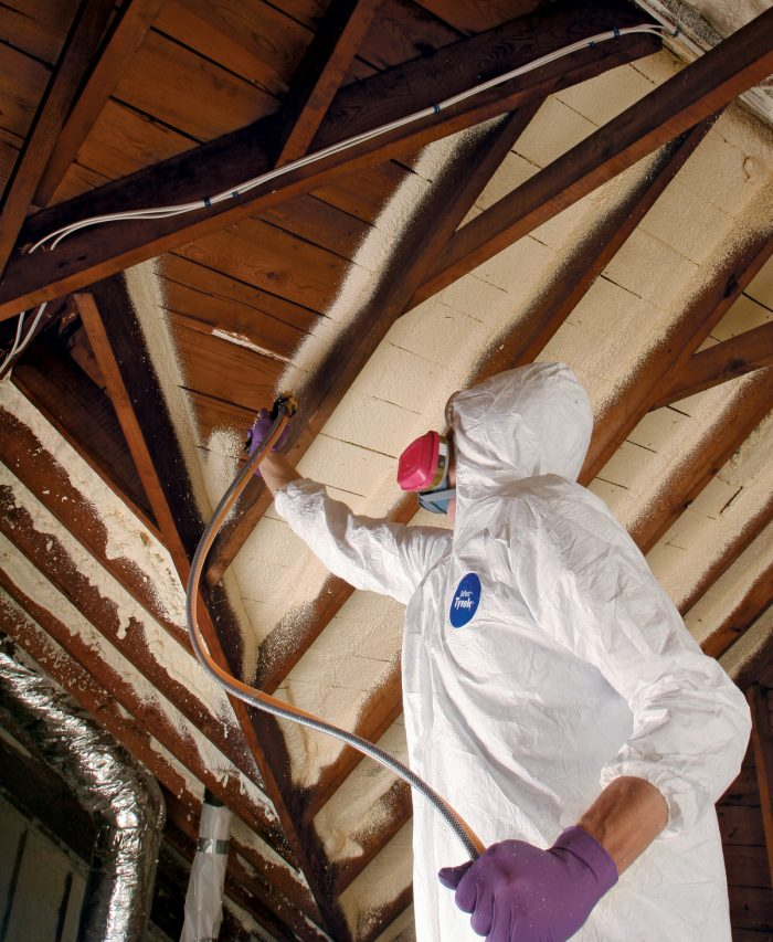 Spray on insulation