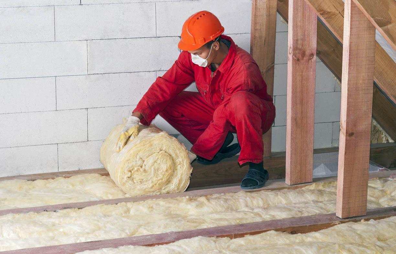 Installing roller insulation