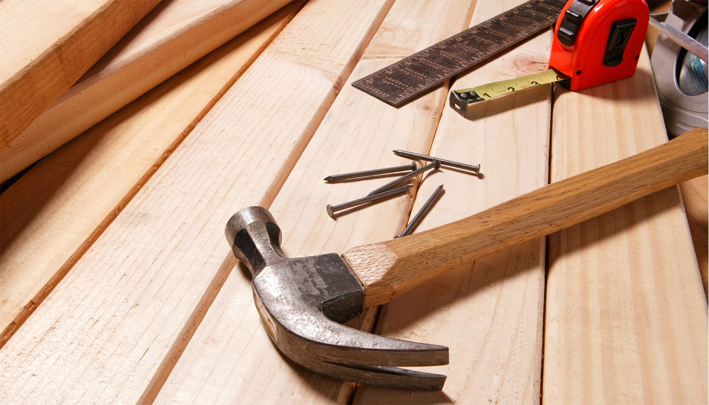Hammer and other carpentry tools