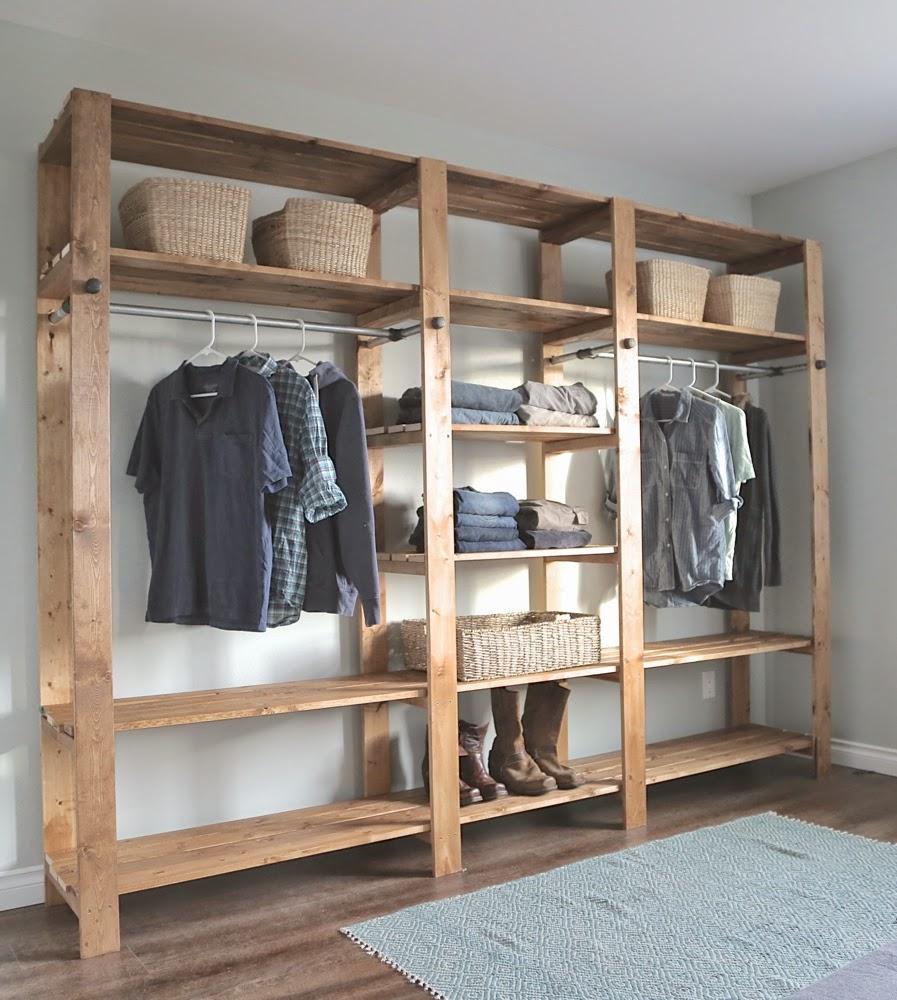 Wood type closet organiser
