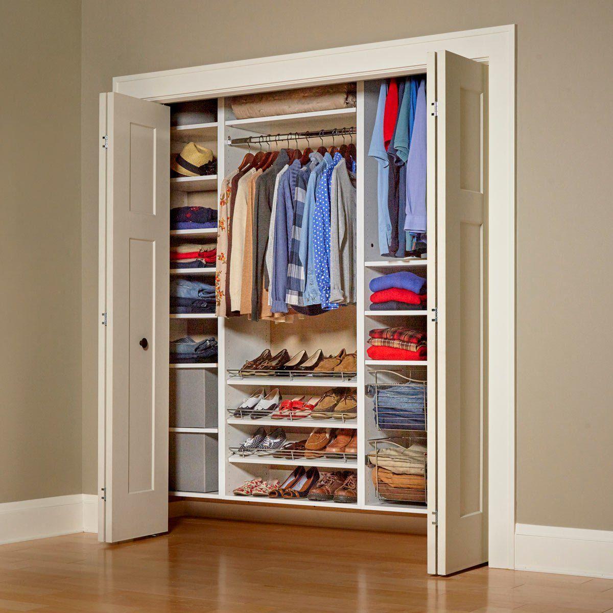 Melamine type closet organiser
