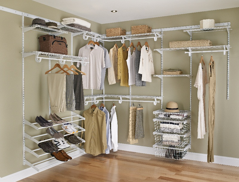 Wire system closet organiser
