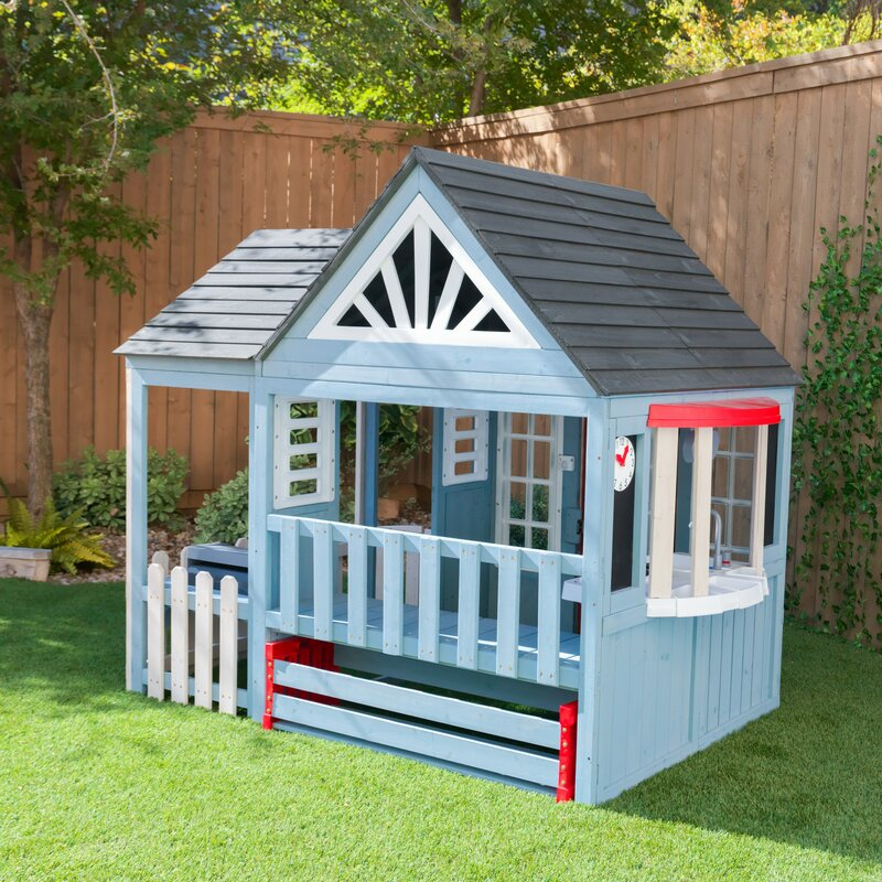Playhouse for kids in the backyard