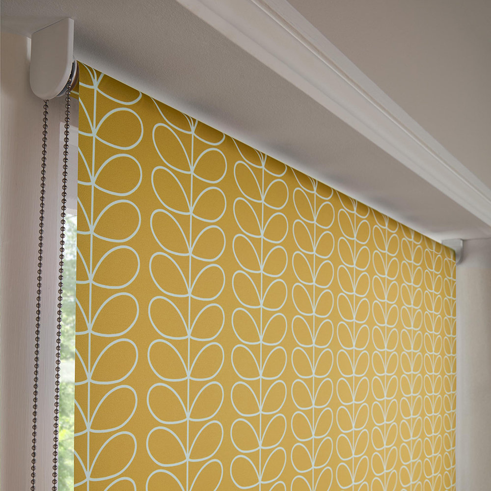 yellow patterned blids
