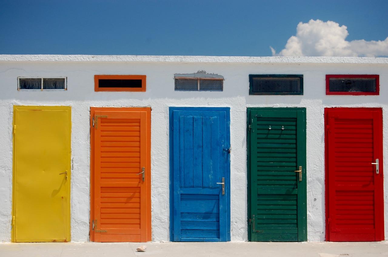 Multi-coloured doors