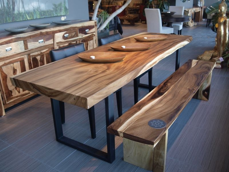 All natural wood furniture