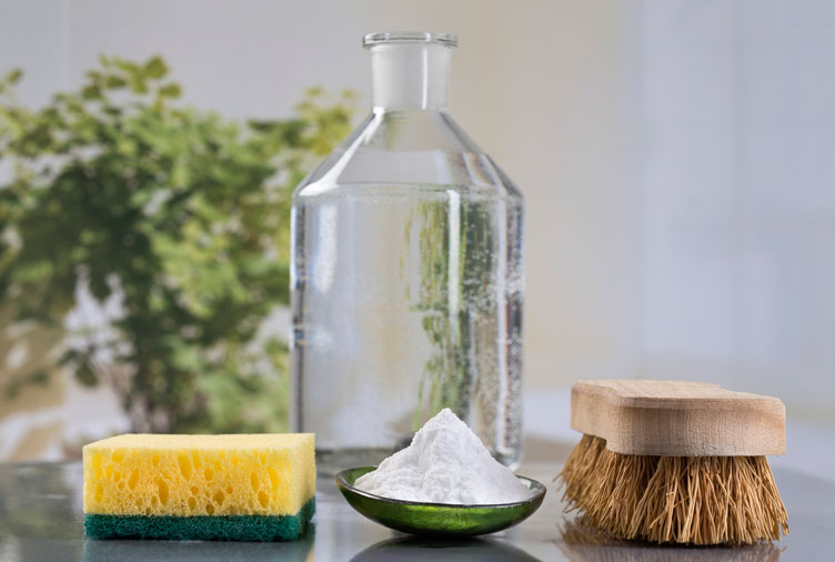 Vinegar and other cleaning tools