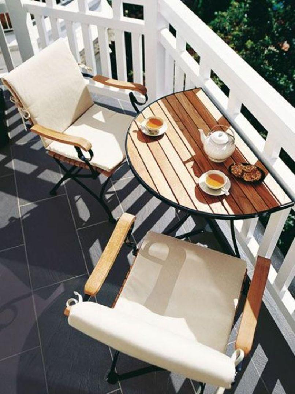 breakfast table on the balcony