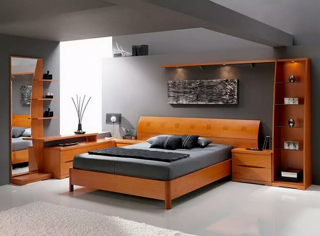 high quality wooden bed