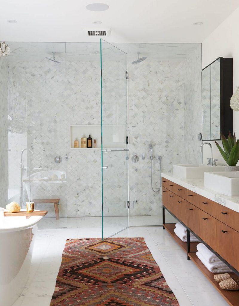 white marble bathroom renovation