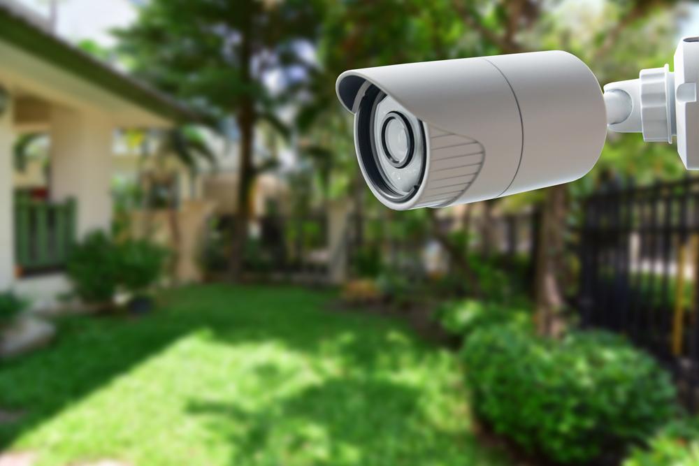 cctv camera in garden