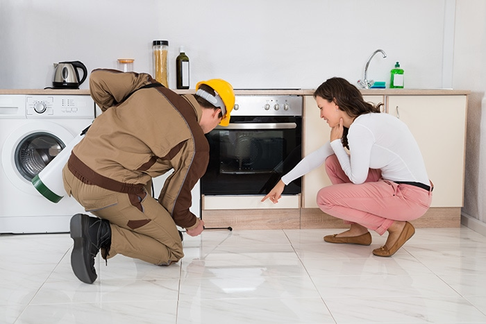 pest controller and homeowner