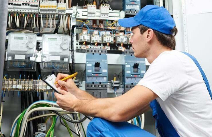 blue suit electrician