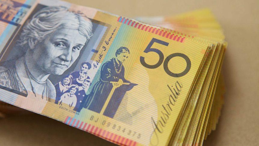Australian 50 dollar notes