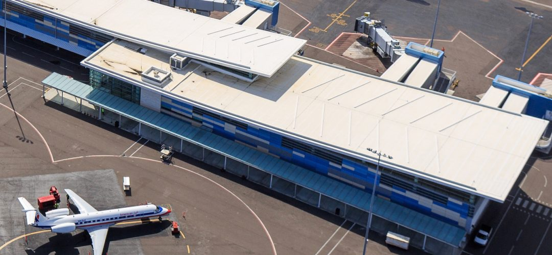 EPDM roofing at airport