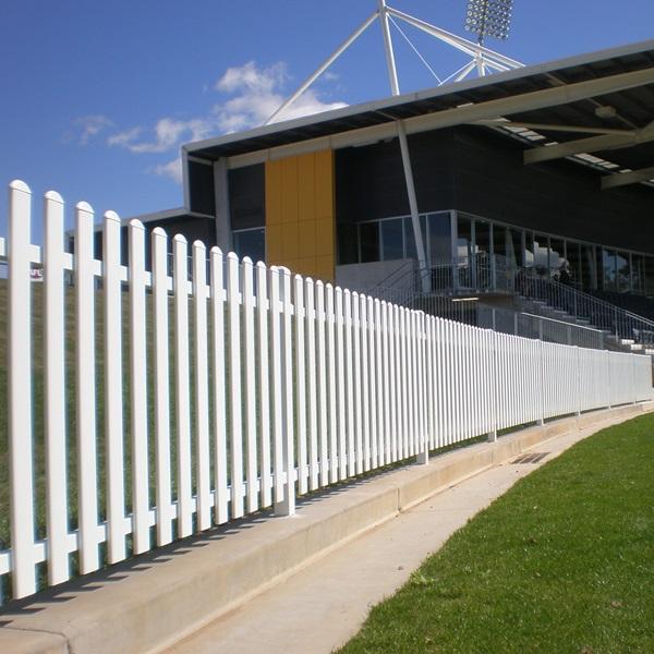 White fencing at stadium