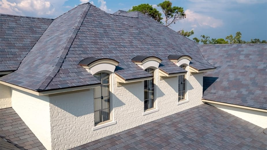 Slate glazed roofing