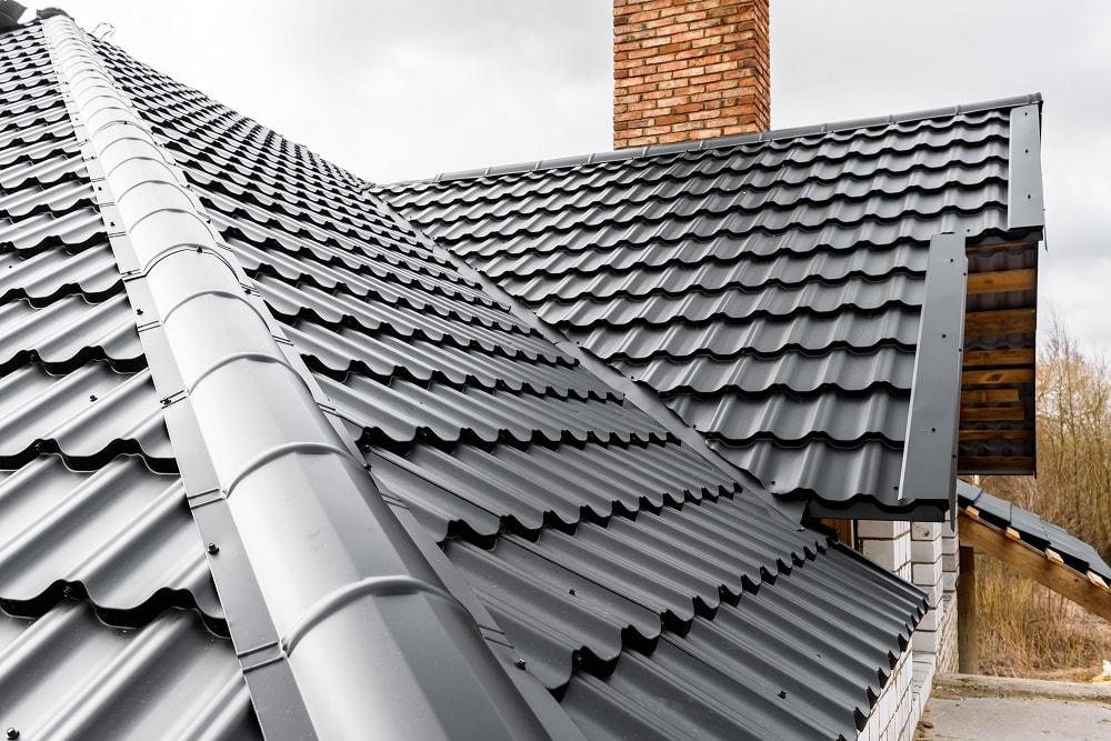 Black shiny metal roof