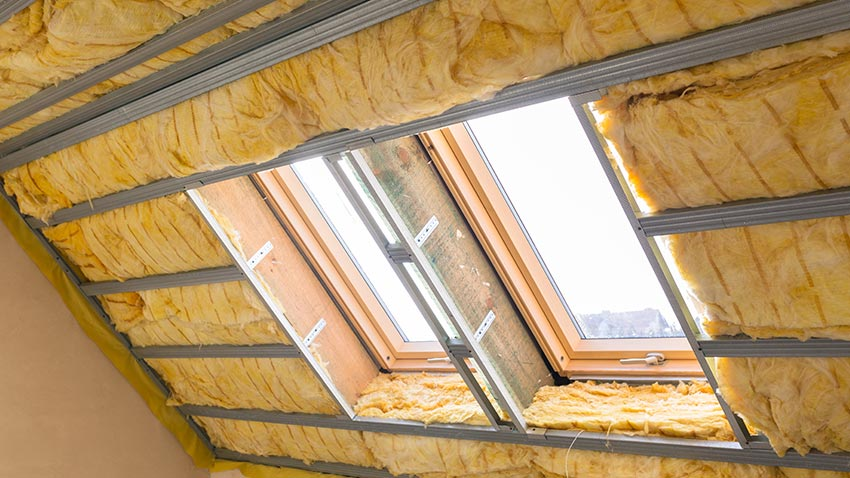 Yellow roof insulation